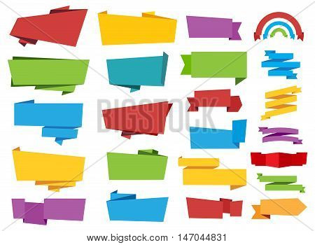 This image is a vector file representing a Label Banner Ribbon collection.