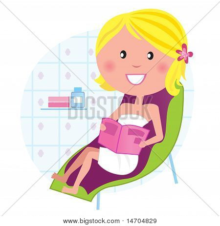 Wellness & Spa: Woman Relaxing On The Lounge Chair