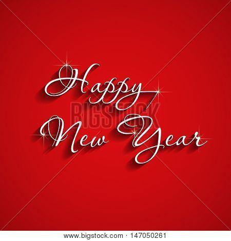 Elegant text design happy new year