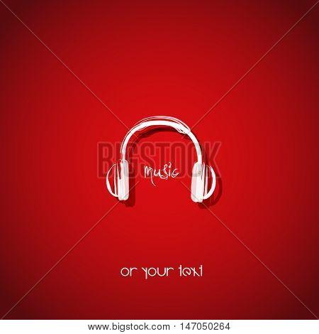 headphone icon sound music design