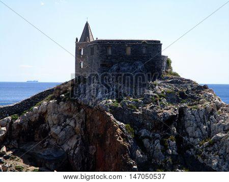 rock promontory of Portovenere, Liguria, north italy
