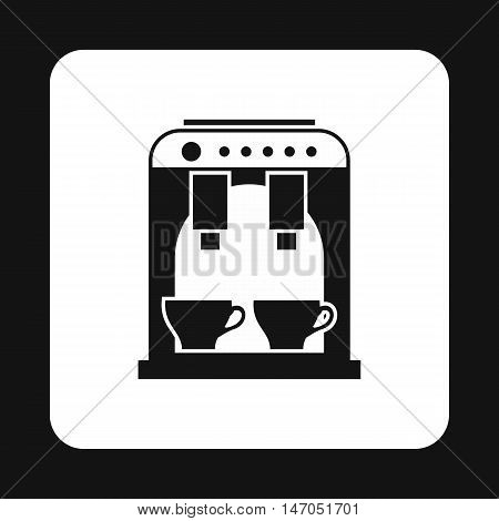Coffee maker icon in simple style isolated on white background. Appliances symbol vector illustration