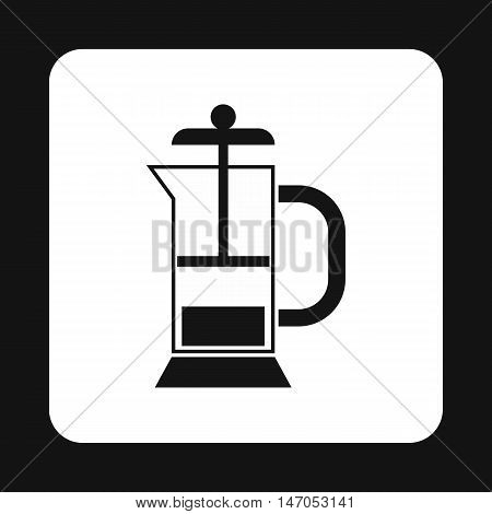 Manual juicer icon in simple style isolated on white background. Home appliances symbol vector illustration