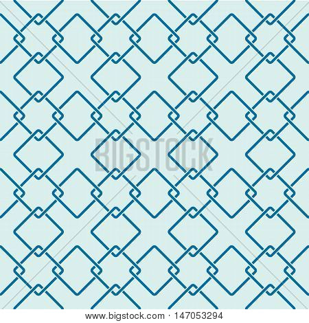 Graphic simple splicing ornamental tile vector repeated pattern made using interlace squares. Vintage art abstract seamless texture
