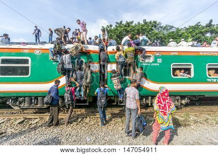 Passengers Are On The Train