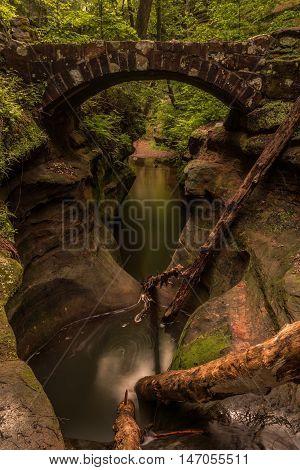 Hocking Hills, Waterfall, Water, Park, Bridge, Rocks