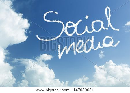 Social Media written in the sky