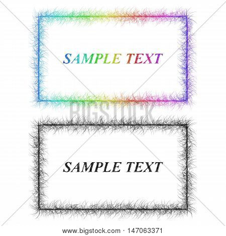 Colorful and black sketch business card frame designs