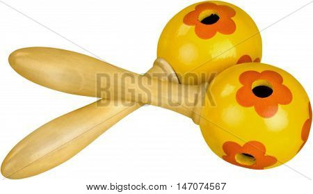 A Pair of Mexican Rattles - Isolated