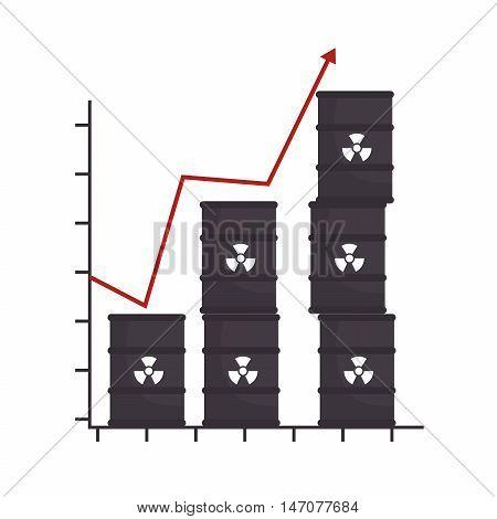 barrel productivity increase arrow design isolated vector illustration eps 10