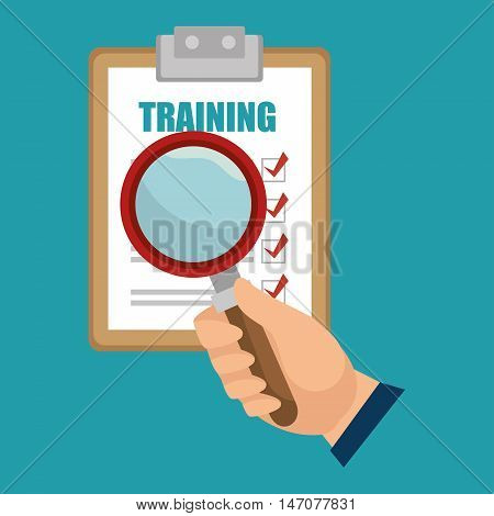 training choose search design isolated vector illustration eps 10
