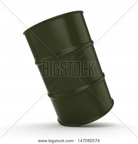 3D Rendering Khaki Barrel