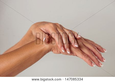 Hands Of Middle Aged Woman