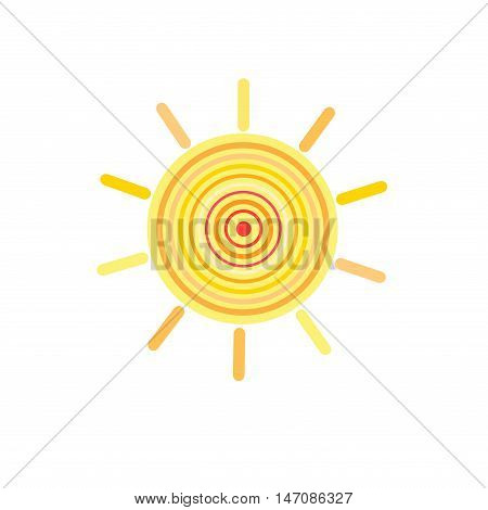 Graphic vector Sign color the sun on a white background
