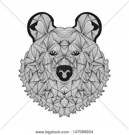 Hand Drawn Decorative Bear