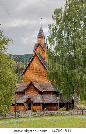 Big Old Heddal Stave Church in Norway