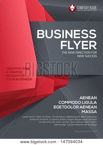 Vector Business flyer. Flyer template. Poster for your business. Cover presentation