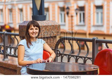Portrait Of Beautiful Caucasian Woman