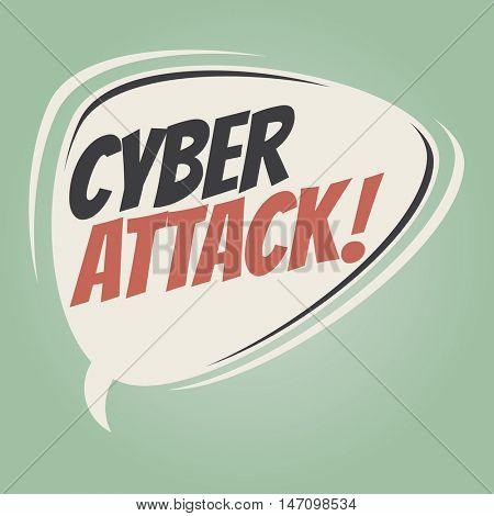 cyber attack retro speech balloon