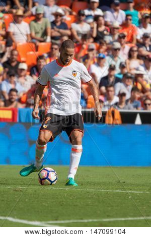 VALENCIA, SPAIN - SEPTEMBER 11th: Mario Suarez during Spanish League match between Valencia CF and Real Betis at Mestalla Stadium on September 11, 2016 in Valencia, Spain