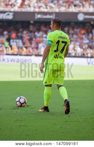 VALENCIA, SPAIN - SEPTEMBER 11th: Joaquin during Spanish League match between Valencia CF and Real Betis at Mestalla Stadium on September 11, 2016 in Valencia, Spain