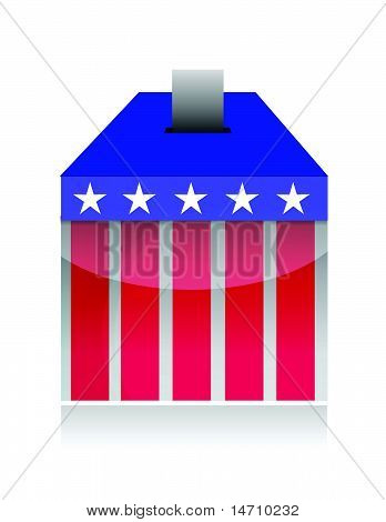 vote poll ballot box for united states election