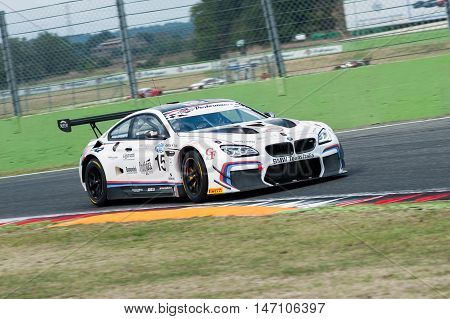 Vallelunga, Rome, Italy. September 10Th 2016. Italian Touring Championship. Bmw M6 In Action