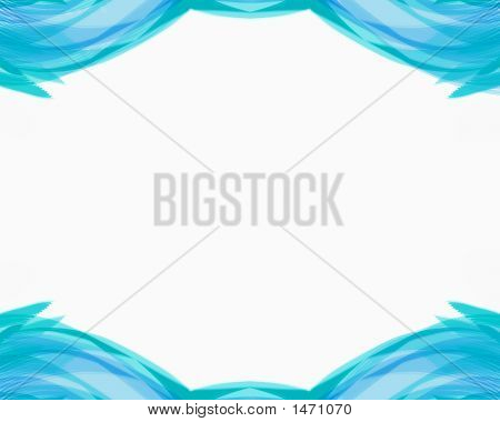 Blue Green Wave Frame