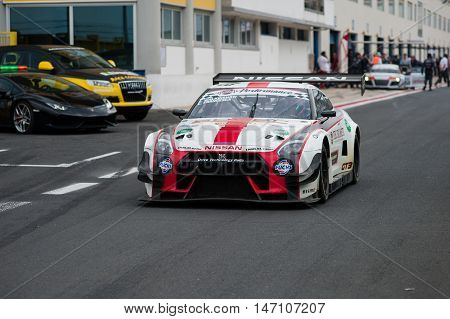 Vallelunga, Rome, Italy. September 10Th 2016. Italian Touring Championship. Nissan Nismo Exit From P