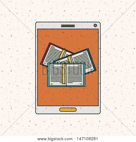 Ebook and tablet icon. Technology gadget digital and downloads theme. Colorful design. Vector illustration