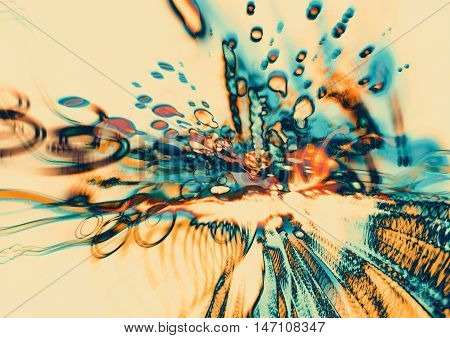 digital art of modern abstract motion, colorful blurred blots