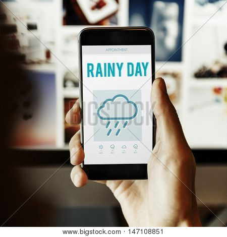 Rainy Day Forecast Weather Rainy Cloud Concept