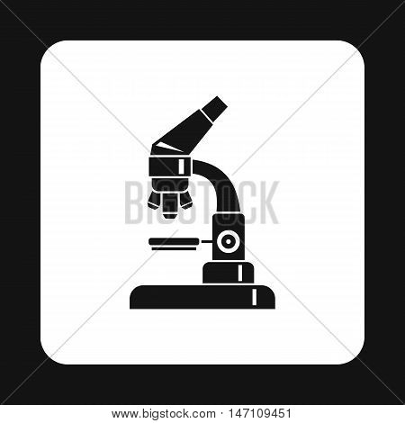 Microscope icon in simple style on a white background vector illustration