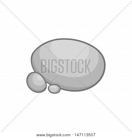 Stones icon in black monochrome style isolated on white background. Natural material symbol vector illustration