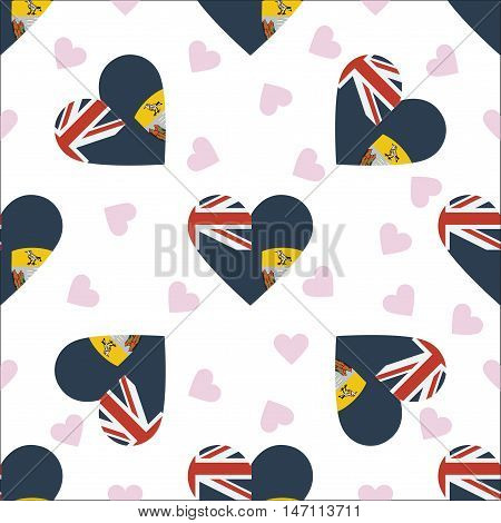 Saint Helena Independence Day Seamless Pattern. Patriotic Background With Country National Flag In T