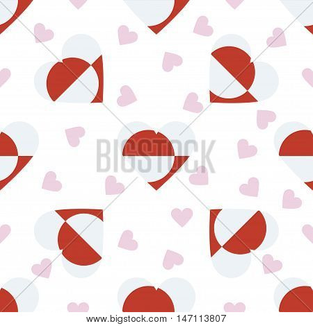 Greenland Independence Day Seamless Pattern. Patriotic Background With Country National Flag In The