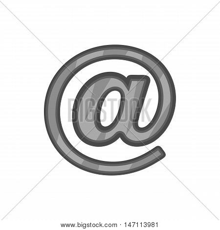 Sign e-mail icon in black monochrome style isolated on white background. Send symbol vector illustration