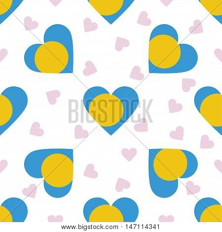 Palau Independence Day Seamless Pattern. Patriotic Background With Country National Flag In The Shap
