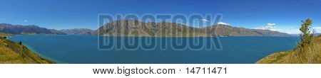 Lake Hawea Panorama View New Zealand