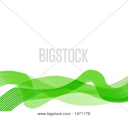 Green Silky Ribbon Abstract