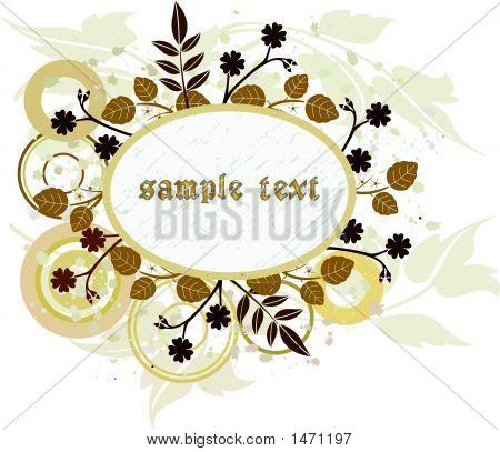 Floral Grunge Banner - Vector