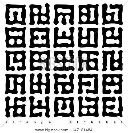Strange alphabet.