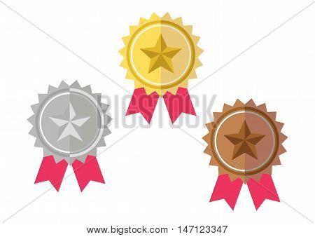 Gold, Silver, Bronze Award Prize Badge