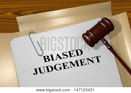 Biased Judgement - Legal Concept
