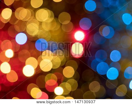 Abstract picture of colorful random lights bokeh