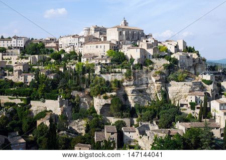 beautiful mountain village gordes,located in the provence, france