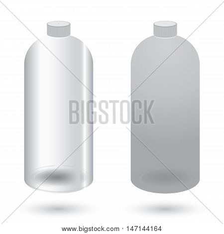 Plastic bottle with dispenser design on white background.