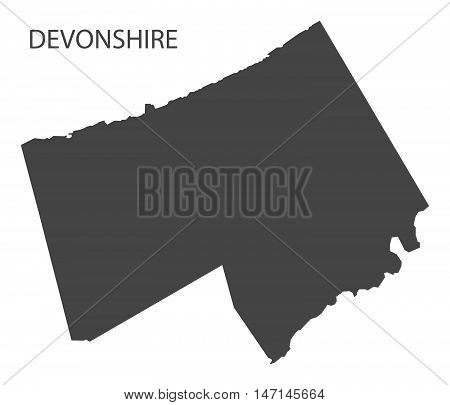 Devonshire Bermuda Map in grey vector high res