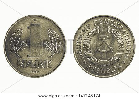 Vintage One Mark Coin