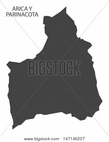 Arica Y Parinacota Chile Map in grey vector high res